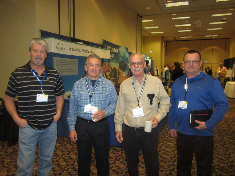 (L-R) are Eric Brown, Frank Anderson, Jerry Mester and Jim Sergent, all of Hanson Material Service.
