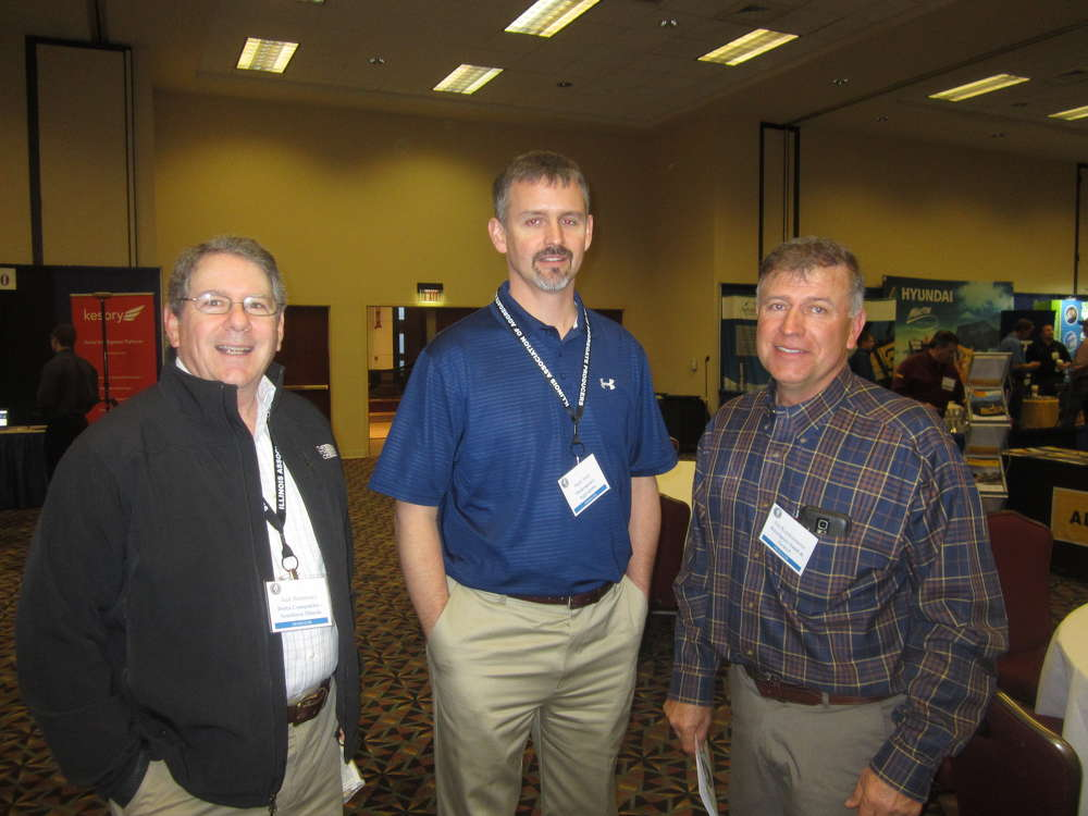 (L-R): Jack Hennessey, Delta Companies — Southern Illinois Stone; Mark Noel, Shakespeare Aggregates, and Jim Koerkenmeier, Keysport Sand & Gravel, attend the IAAP expo.