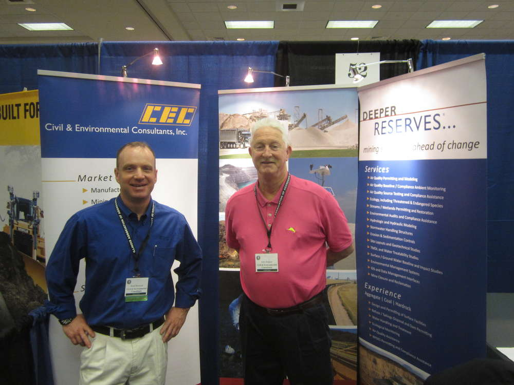Brad Renwick (L) and John Bognar, both of Civil & Environmental Consultants Inc., attend the event.