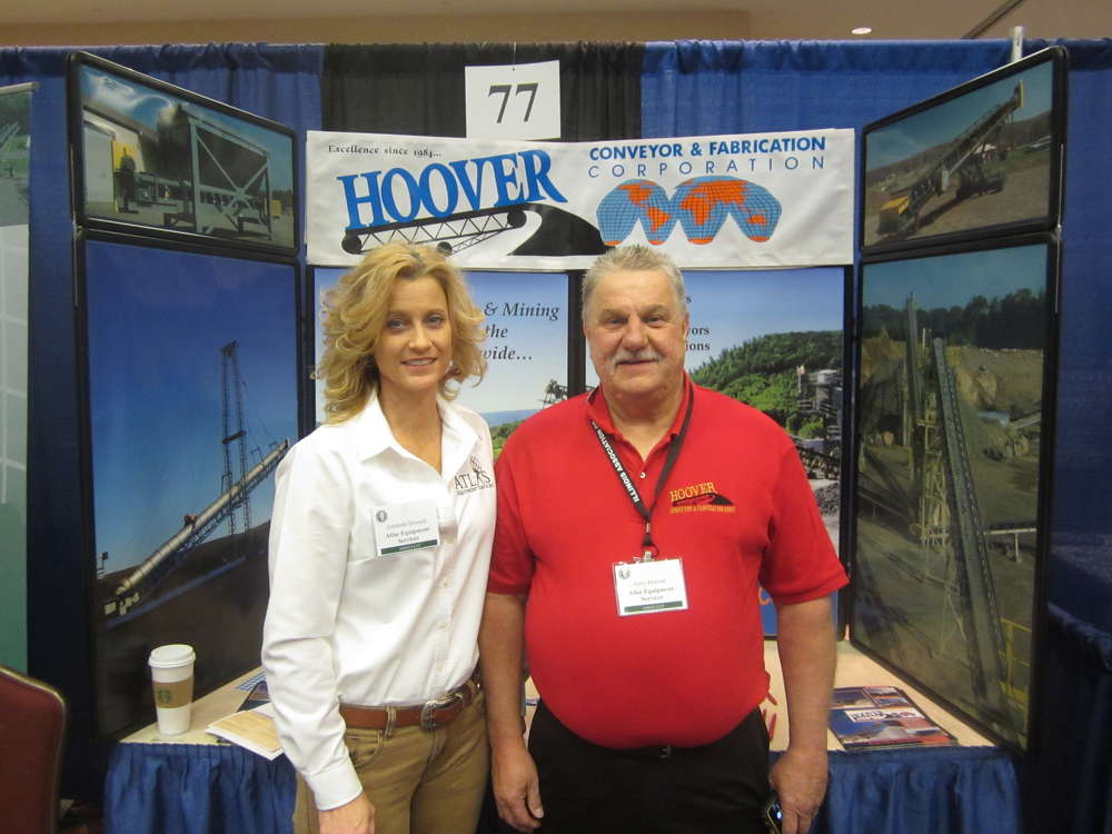 Amanda Dossett (L), Atlas Equipment Service, and Jerry Hoover of Hoover Conveyor came in from Meyersdale, Pa., for the annual convention.
