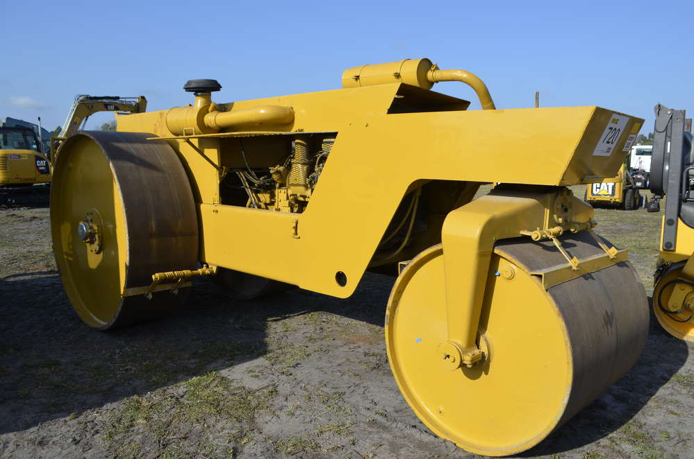 Here is one you do not see every day — an Ingram 12-ton, three-wheel compactor, probably made in the 1970s.