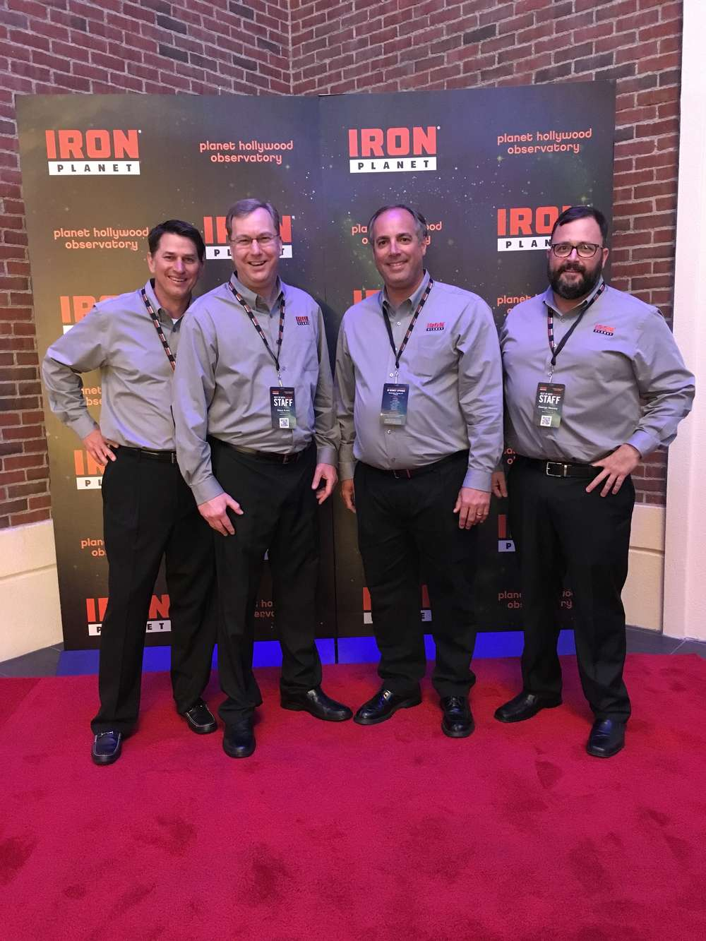 Ready for a hugely successful Florida Auctions (L-R) are Randy Wynn, sales director-Coastal South region; Dave Kreis, sales director-Northeast region; Tom Ferguson, sales director-Florida region; and George Massey, sales director-Southeast region, all of IronPlanet.