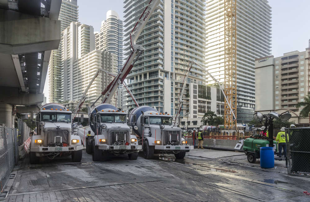 """CMC Group? photo. """"Planning for the mat foundation pour began immediately when Moss agreed to take on the project in March 2016,"""" said Ed Baro, Moss & Associates vice president."""