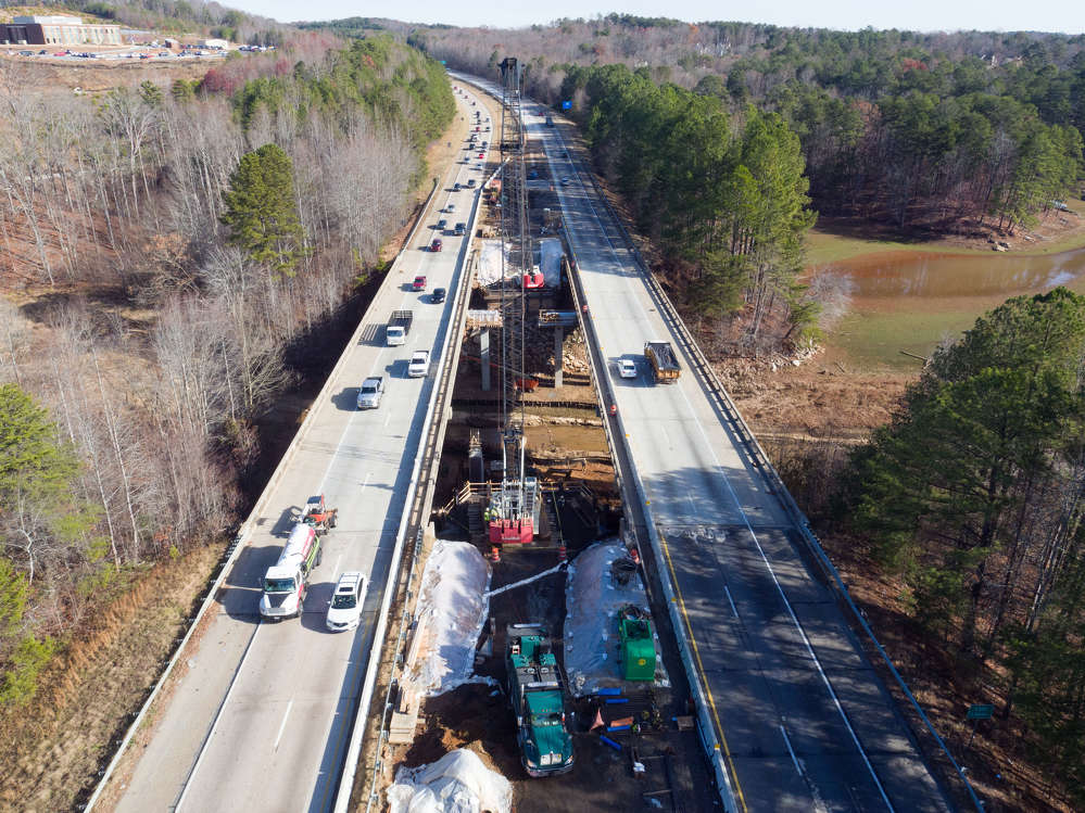GDOT photo. A $47 million design-build project that will widen state Route 400 in Forsyth County from McFarland Parkway Interchange to state Route 369/Browns Bridge Road is moving forward in Georgia.