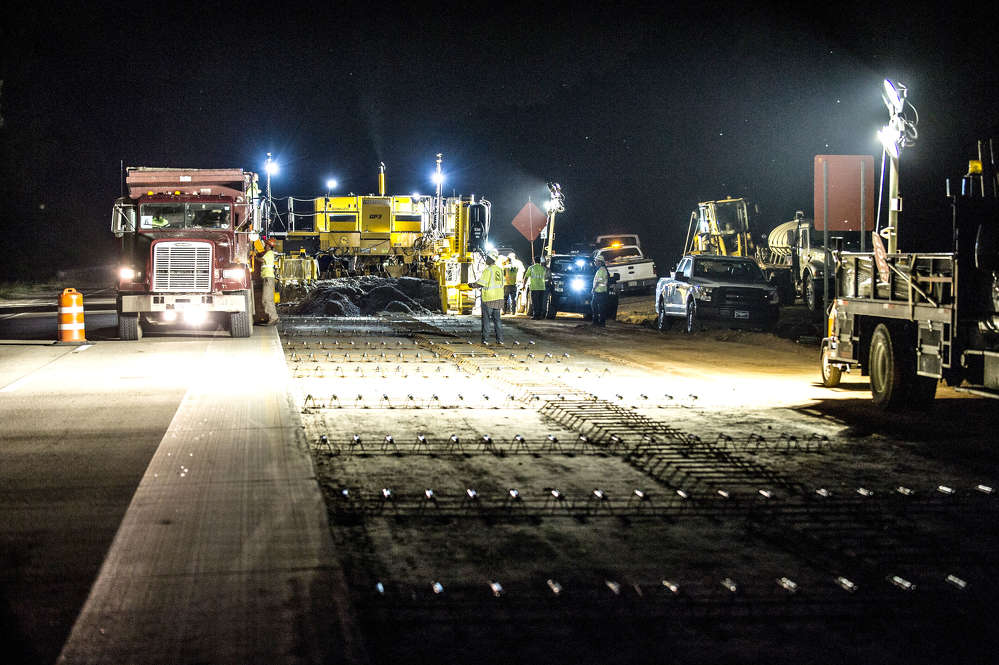 GDOT photo. Concrete paving will resume southbound in spring 2017.