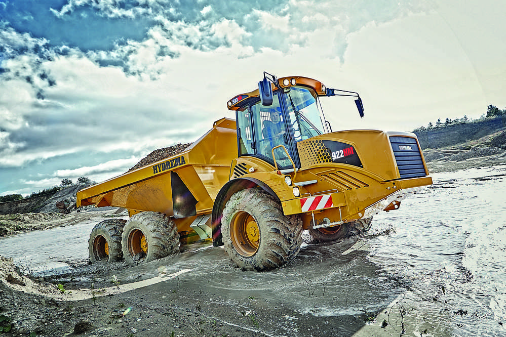 Hydrema F-series 22-ton payload Articulated Dump Truck.