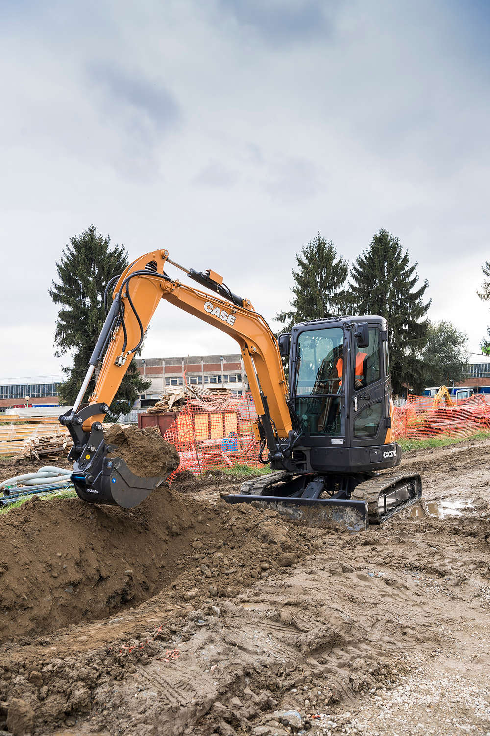 Case CX37C mini excavator.