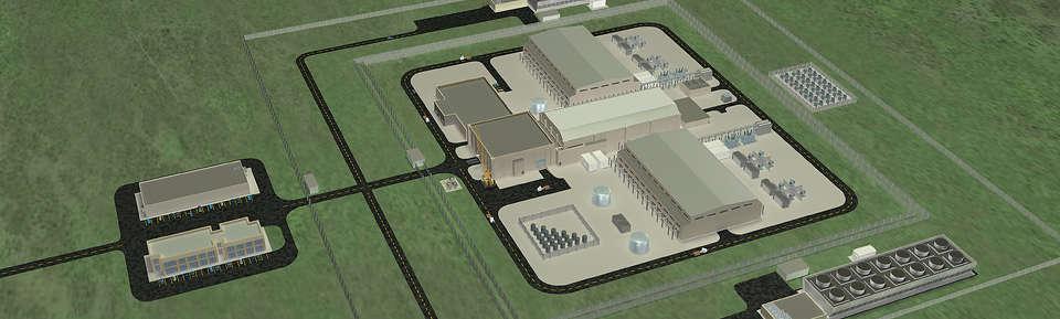 NuScale SMR plant design. via NuScale, LLC.