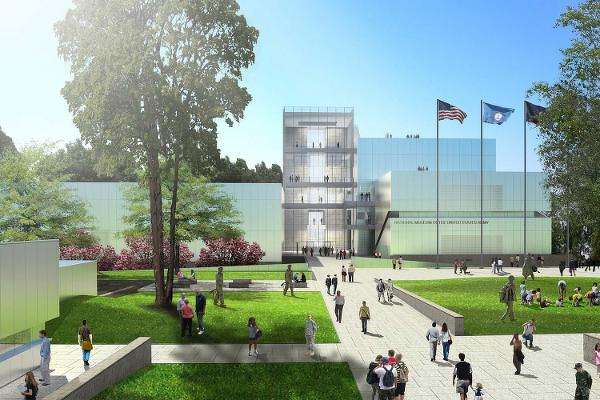 Artist rendering of the Army Museum.  (Illustration via U.S. Army)