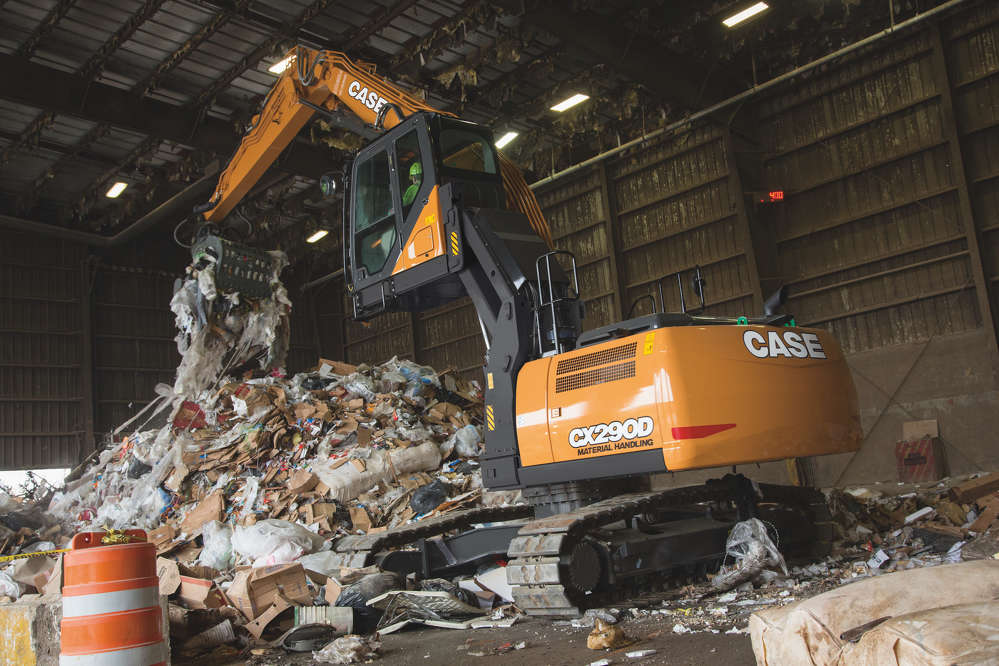 The CX290D material handler features a 177 HP Tier IV Final engine.
