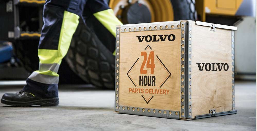Volvo Construction Equipment demonstrates its commitment to customer uptime with a 24-Hour Parts Guarantee in the United States, including Alaska, and a 48-Hour Parts Guarantee in Canada and Hawaii.
