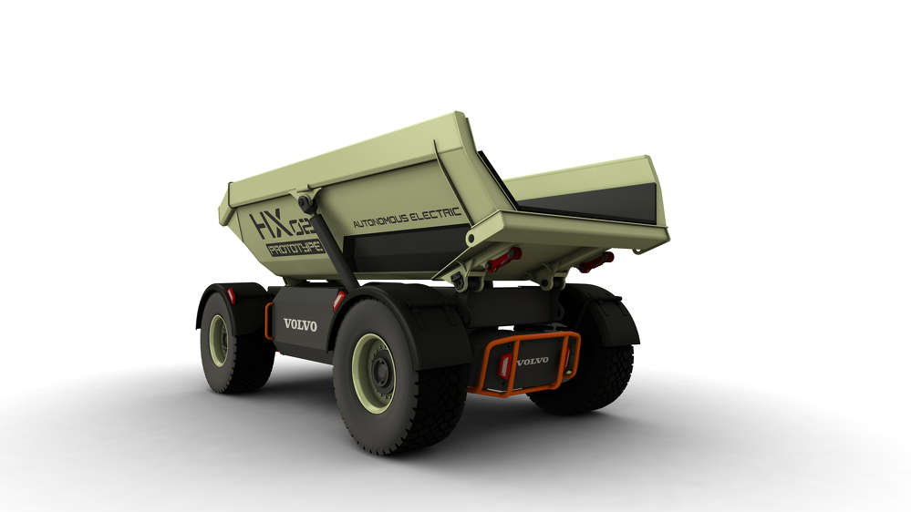 Volvo CE HX2 autonomous, battery-electric, load carrier