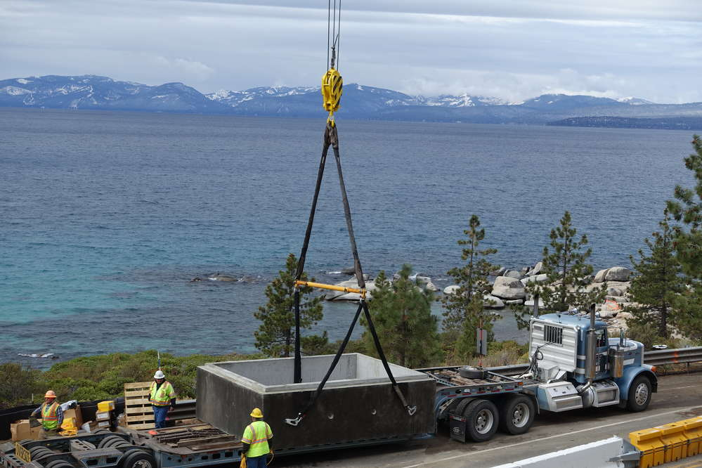 The Nevada Department of Transportation (NDOT) is overseeing the work, which also will help protect and preserve Lake Tahoe's water quality.