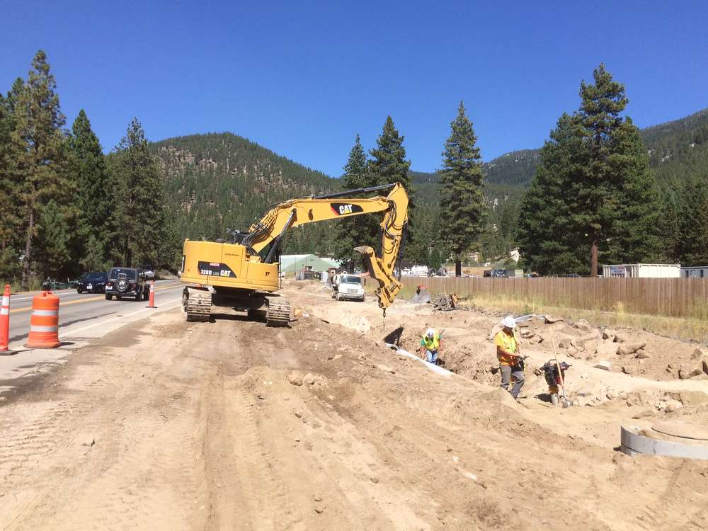 The Nevada Department of Transportation (NDOT) is overseeing the work, which also will help protect and preserve Lake Tahoe's water quality