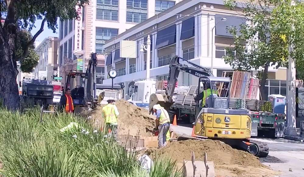 Aside from transportation upgrades, the Van Ness Improvement Project also includes replacing 1800s-era water and sewer lines beneath the street, installing new streetlights and sidewalk lighting, new landscaping and rain gardens, as well as repaving Van Ness Avenue