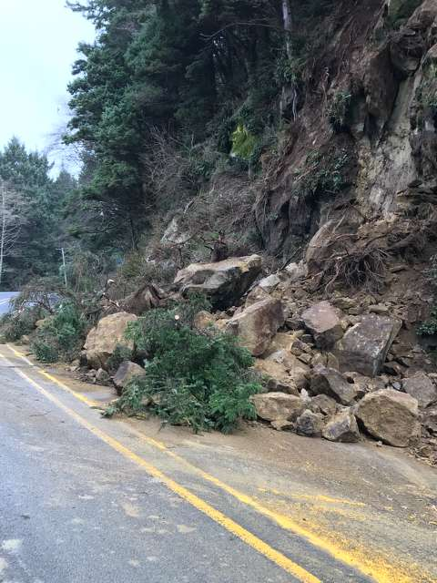 Land and rock slides are not unusual on the Oregon Coast, but the weather conditions for the time of year were.