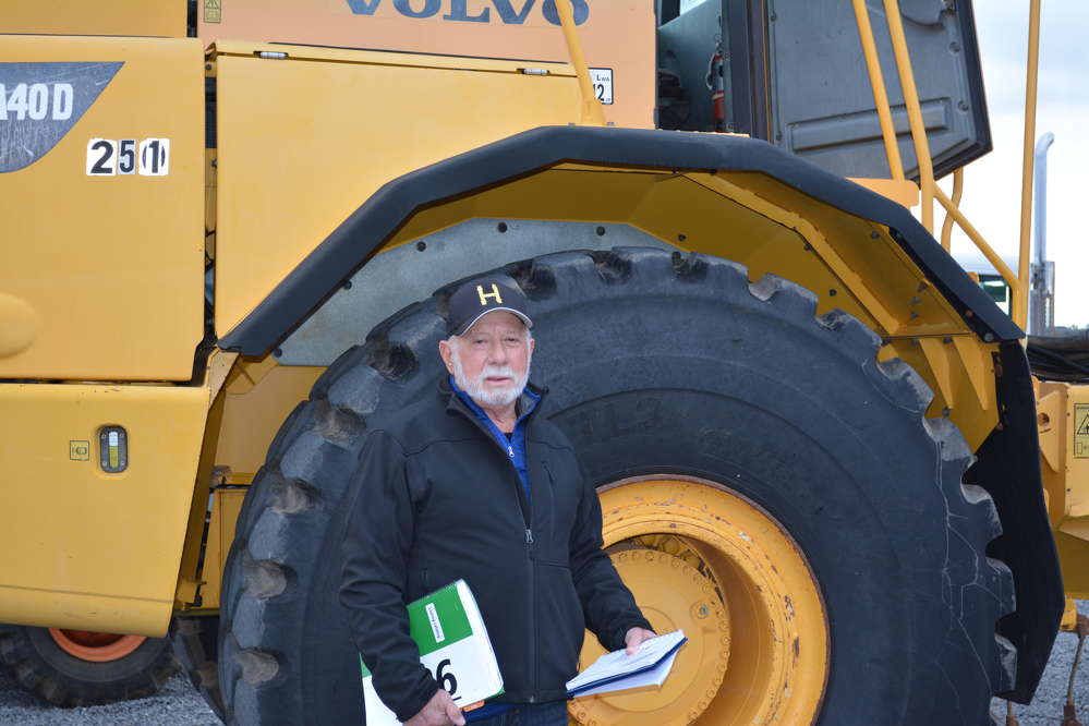 Real estate developer Warren Halle traveled from the east coast to bid on several pieces of equipment, like this Volvo A40D articulated dump truck.