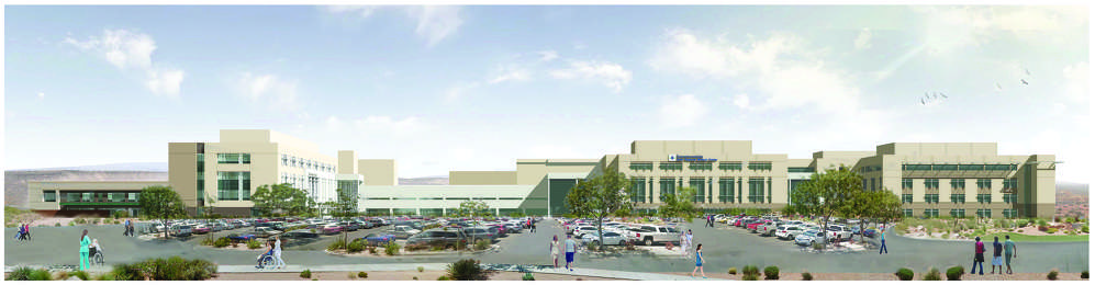 Terri Draper, Dixie Regional photo A rendering of the Dixie Regional Medical Center following its consolidation, which will increase its footprint from 425,000 sq. ft. (39,483 sq m) to more than 800,000 sq. ft. (74,322 sq m).