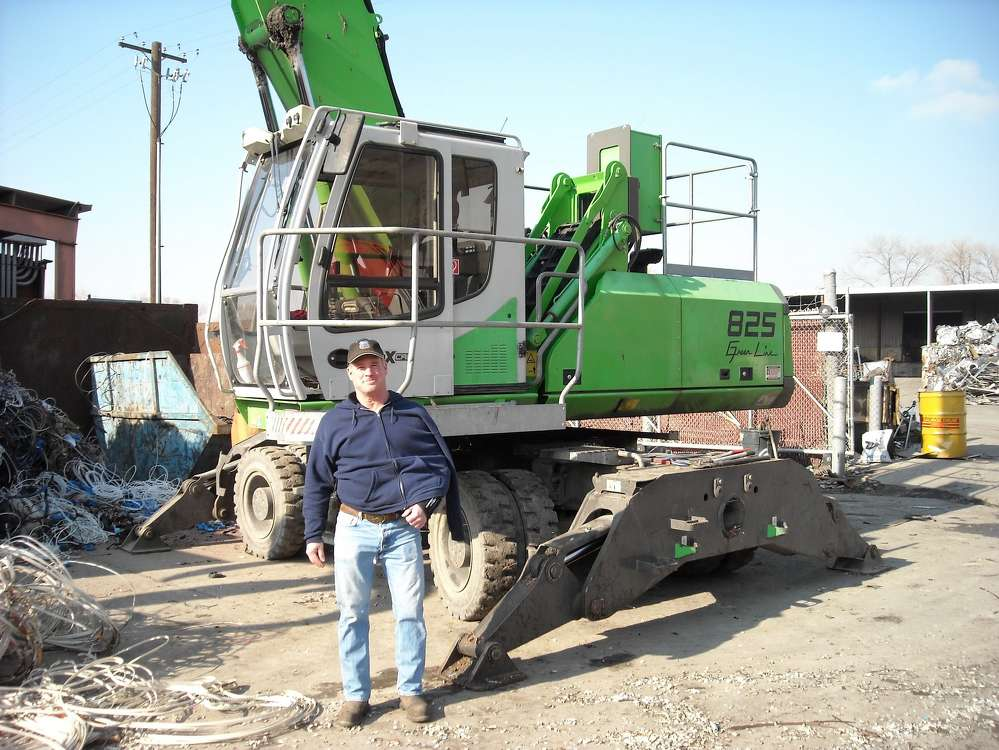 Mark Lewon with the latest addition to the Utah Metal Works fleet.