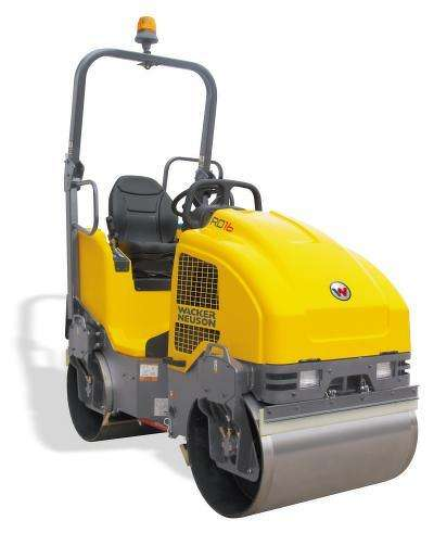 Wacker Neuson roller powered by Kohler Diesel Engine.