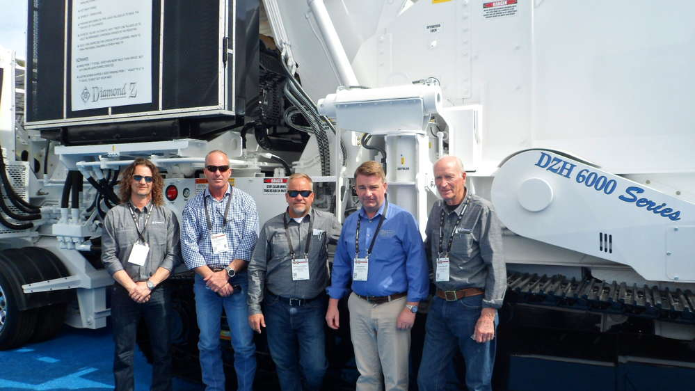 (L-R) are Steve Peel, Pat Crawford, Brian Hartsveld, John Wright and Jack Moniger, president of Construction & Industrial Equipment in Lodi N.J.