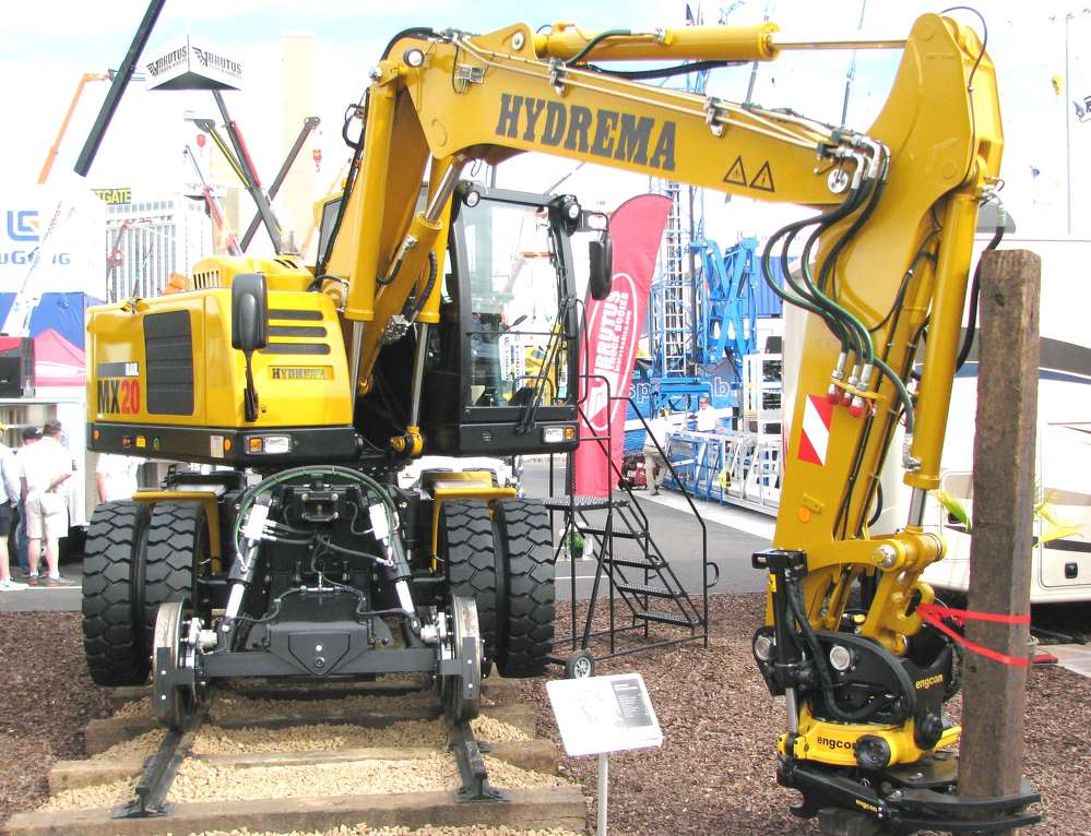 The newly designed Hydrema MX20 rail-wheeled excavator was on display at ConExpo and isn't a product you'll see every day.