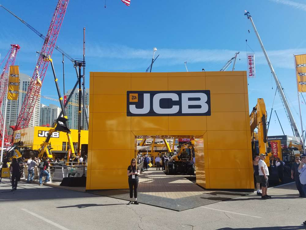 JCB had an impressive exhibit area in the Gold Lot.