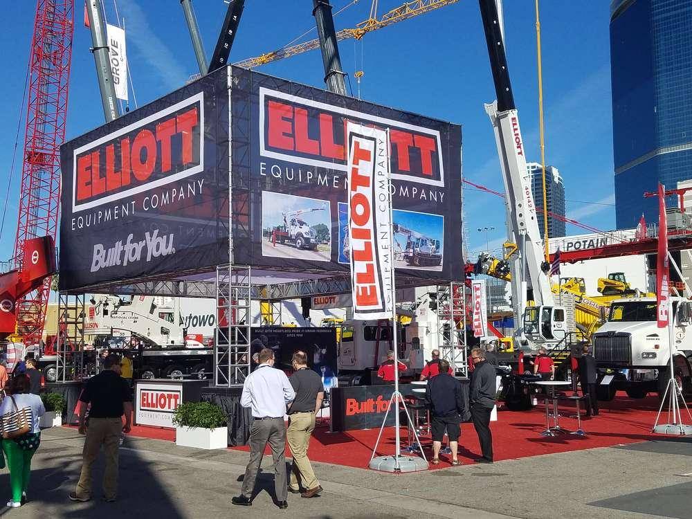 Elliott Equipment Company's exhibit in the Gold Lot.