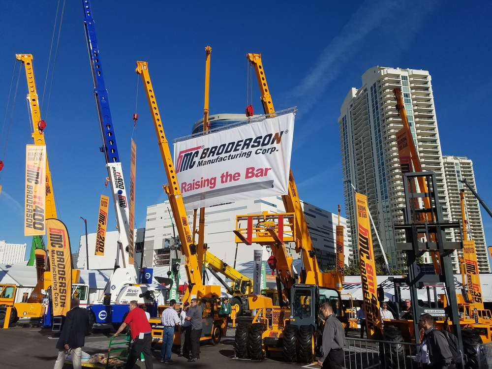(Broderson Manufacturing, which is owned by Mi-Jacks, which owns Howell Tractor and Walter Payton Power Equipment, had a prominent display at ConExpo.