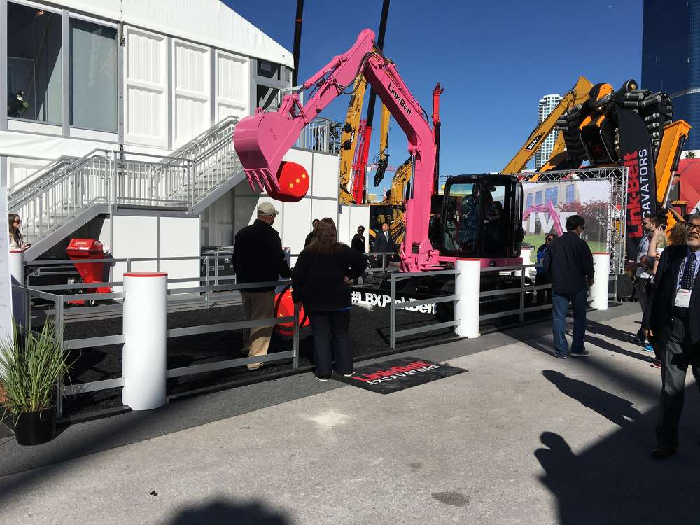 Link-Belt featured a special pink compact excavator where visitors could experience the smooth hydraulics of the machine by rolling