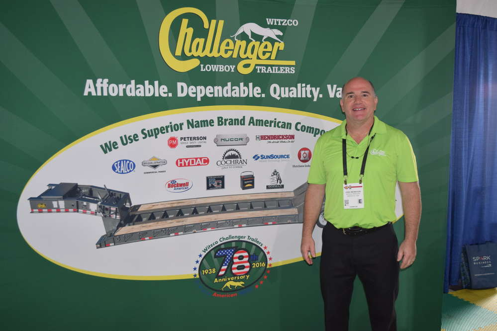 Josh Weinsten, owner of Witzco Trailers from Sarasota, Fla., was on hand to speak with his new and existing customers.