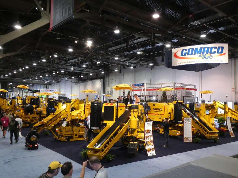 (TM) MNSW (GOMACO) Concrete paving equipment filled GOMACO's exhibit at ConExpo 2017.