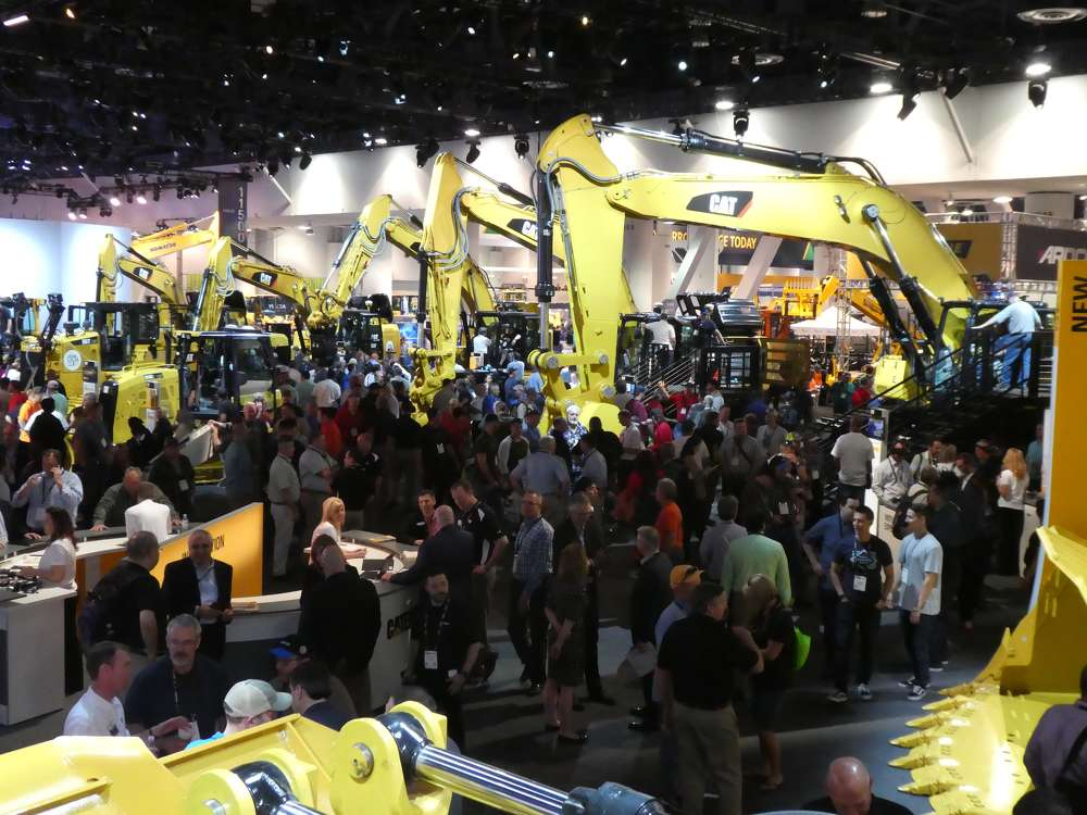 The Caterpillar display in the North Hall drew heavy traffic throughout the show.