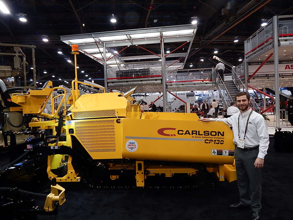 Carlson's commercial-class paver, the CP130, gives contractors an industry-leading platform for large commercial applications, according to Carlson Marketing Manager Travis Colwell.