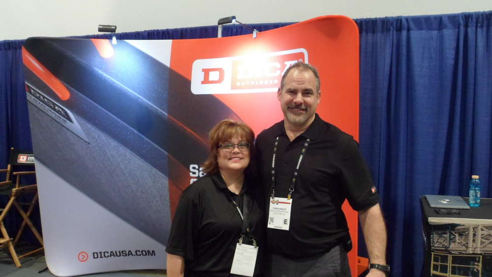 Michelle Williams and Chris Hingst of DICA were on hand during ConExpo.