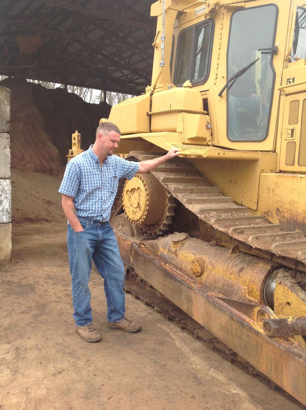 Brian Oster, Garden State Services LLC, Florence, N.J., said that his company specializes in heavy hauling, and he was interested in a variety of equipment, including this Cat dozer.