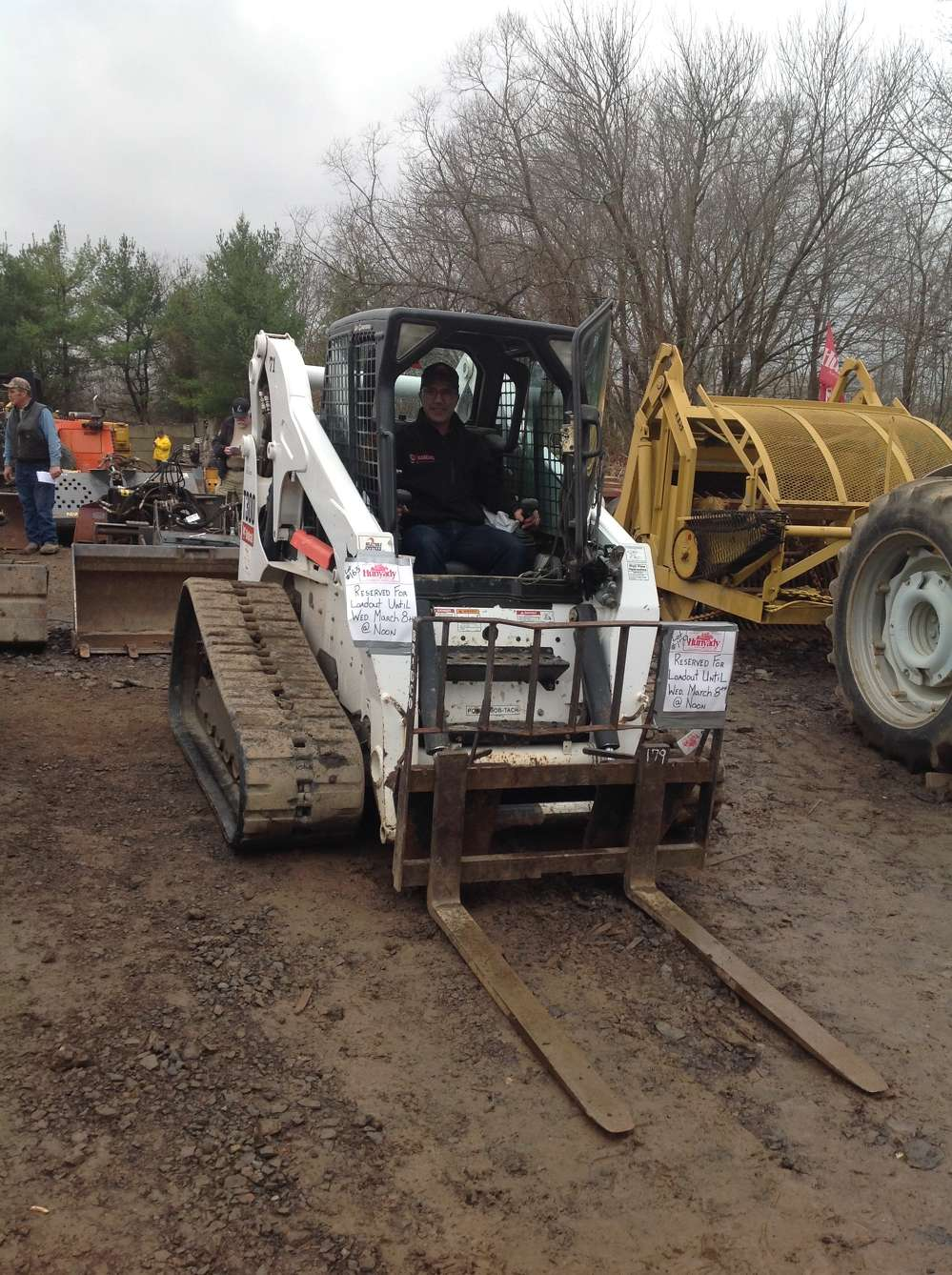 John Pereira, Lucas Construction Group Inc., Morganville, N.J., said he plans to bid on this Bobcat T300 multi-terrain loader.