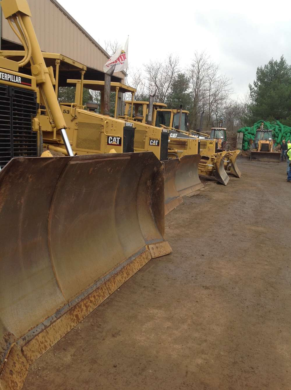 The sale featured a variety of equipment, including Cat dozers.