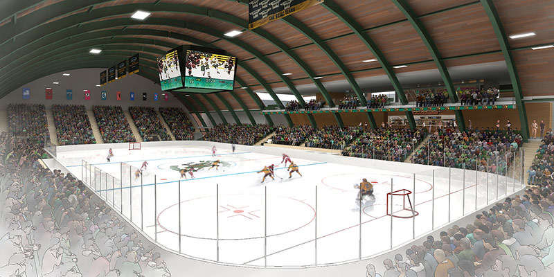 The renovation would preserve the character of Gutterson Fieldhouse, one of college hockey's most iconic arenas.