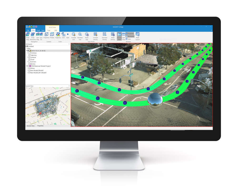 Topcon integrated mass data processing software.