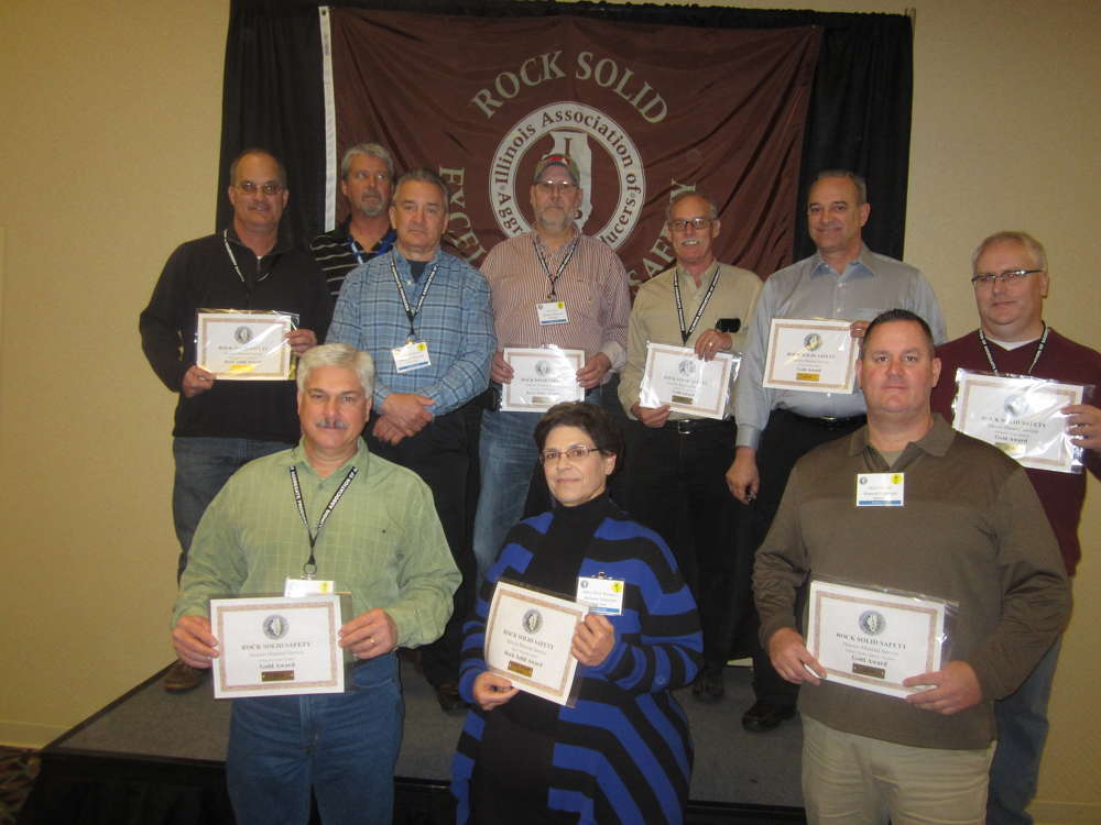 Rock Solid Excellence in Safety Award and Gold Award winners.