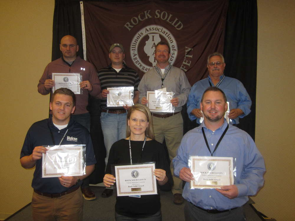 Pictured are Rock Solid Excellence in Safety Award winners.
