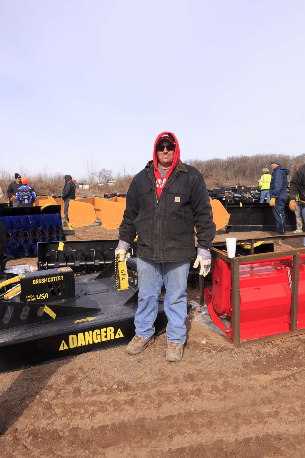 Peter Erickson of Milaca, Minn., shops from Ring 2's wide variety of attachments and tools.
