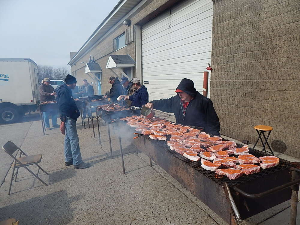 John Luedloff cooked up more than 1,200 pork chops.