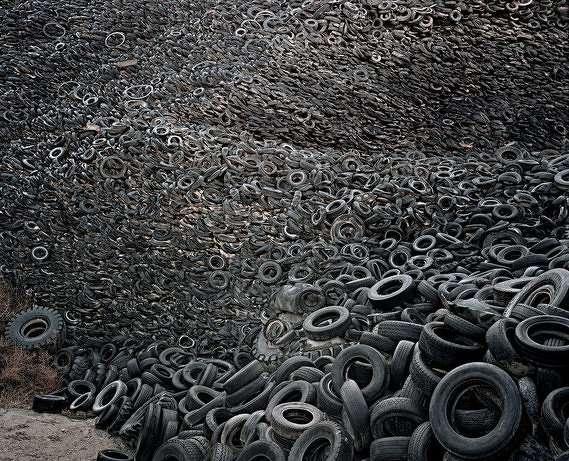 Tire yard. Photo by: Edward Burtynsky.