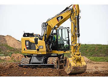 Caterpillar wheeled excavator.