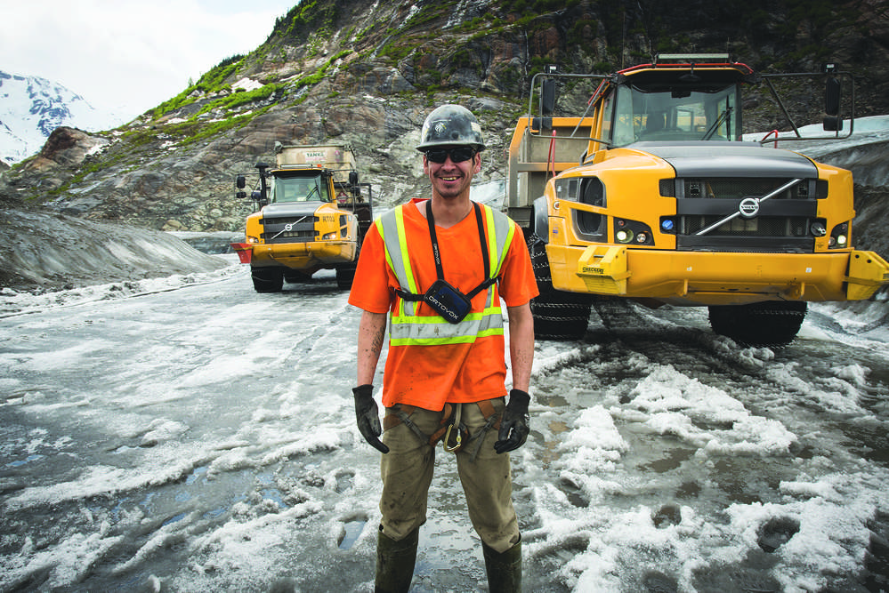 William Joe is one of a team of 10 articulated hauler operators at Tsetsaut Ventures working shifts to make sure the mine is supplied seven days a week.