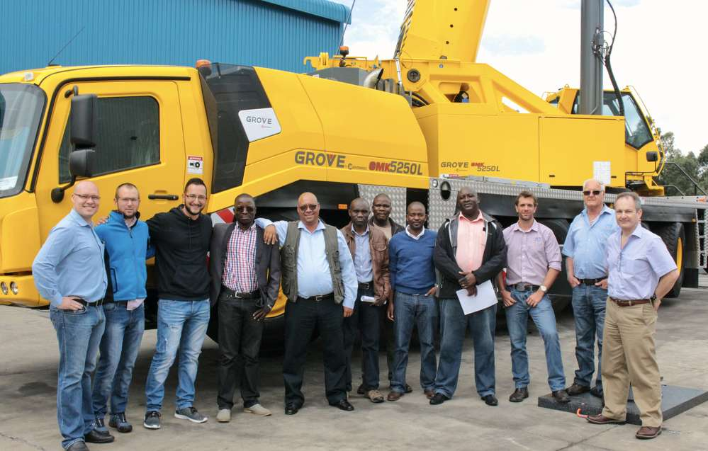 The Grove GMK5250L crane will take up residence in the world's largest diamond mine.