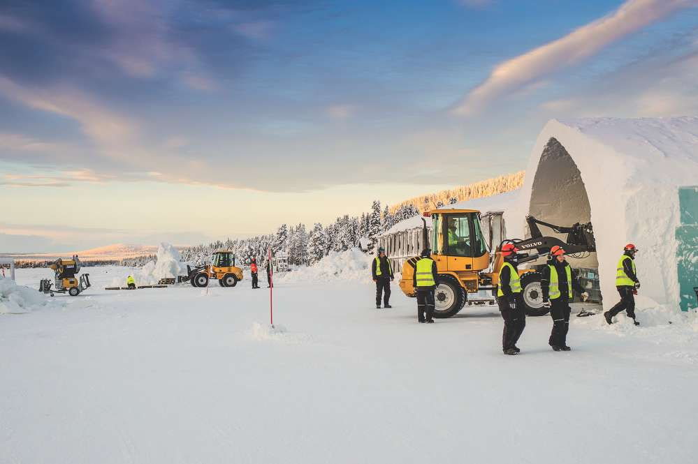 Volvo machines have played a major role in transforming the Icehotel into a year-round venue.