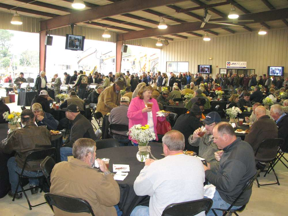 Approximately 400 guests enjoyed a barbeque lunch at the JM Wood Auction facility on March 13.